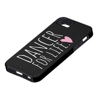 Dancer For Life Black with Heart iPhone 5 Case