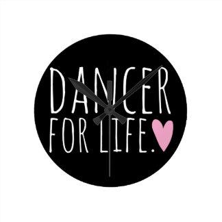 Dancer For Life Black with Heart Wallclocks