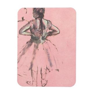 Dancer from the Back by Edgar Degas Vintage Ballet Rectangular Photo Magnet