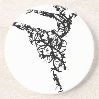 dancer hearts2 coaster