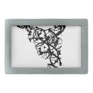 dancer hearts2 rectangular belt buckle