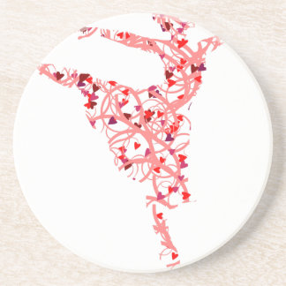 dancer hearts coaster