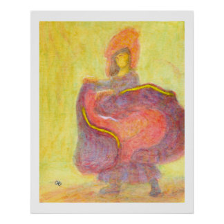 Dancer in Chinese Costume, Poster