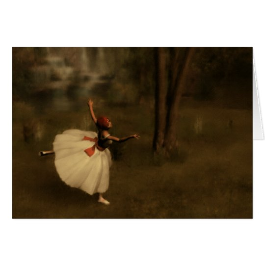 Dancer in the Garden Card