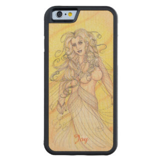 Dancer in the Light Optimism Positivity Carved Maple iPhone 6 Bumper Case