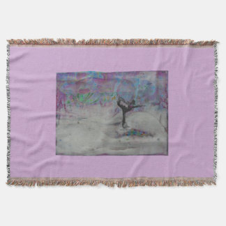 Dancer In The Snow- throw blanket