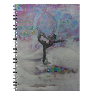 Dancer In The Snow Yoga Girl Notebook