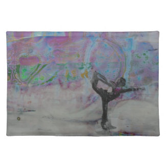 Dancer In The Snow Yoga Girl Placemat