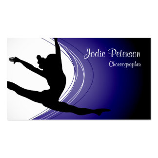Dancer Jette Leap Silhouette Violet Business Card