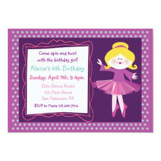 Dancer Kids Party Birthday Invitation