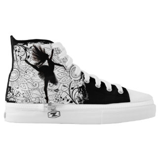 Dancer lace tennis shoes printed shoes