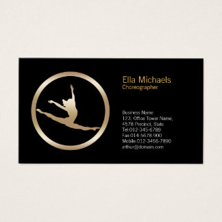 Dancer Leap Icon Dancer Business Card