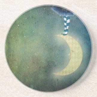 dancer one the moon sandstone coaster