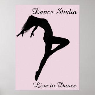 Dancer Retire Silhouette Personalized Poster