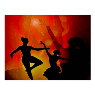 dancer , shadow post cards