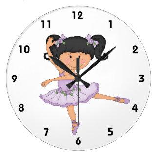 Dancer-Sweet Ballerina in Tutu Large Clock