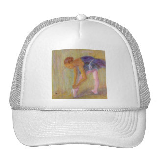 Dancer Tying Her Ballet Shoes, Hat