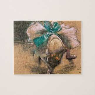 Dancer Tying Her Ribbons by Edgar Degas Jigsaw Puzzle