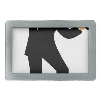 Dancer with Cane Rectangular Belt Buckles