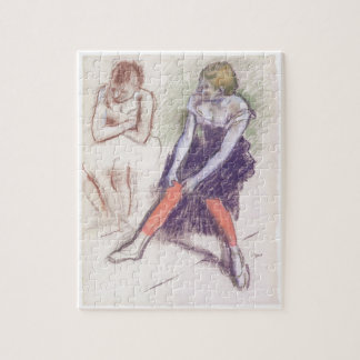 Dancer with Red Stockings by Edgar Degas Jigsaw Puzzle