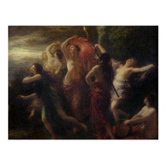 Dancers, 1891 postcard