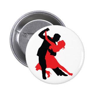 Dancers 1 6 cm round badge