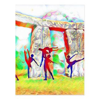 Dancers at Stonehenge Postcard