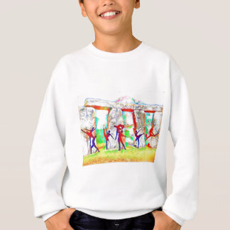 Dancers at Stonehenge Sweatshirt