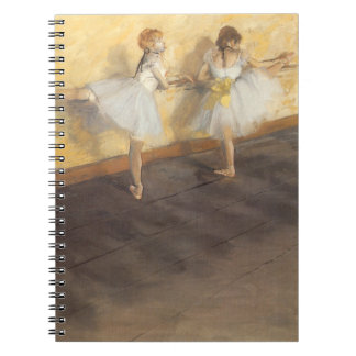 Dancers at the Bar by Edgar Degas, Vintage Ballet Spiral Note Books