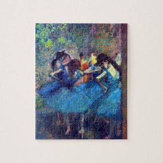 Dancers in Blue by Edgar Degas, Vintage Ballet Art Jigsaw Puzzle