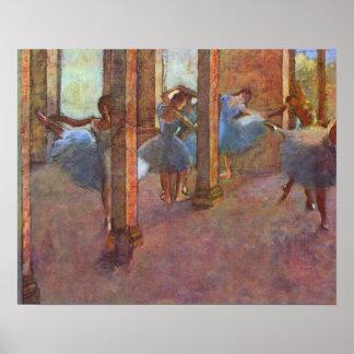 Dancers in Foyer, Edgar Degas, Vintage Ballet Art Poster