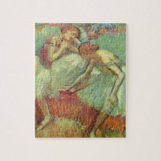 Dancers in Green, Edgar Degas, Vintage Ballet Art Jigsaw Puzzle