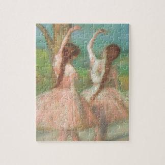 Dancers in Pink by Edgar Degas, Vintage Ballet Art Jigsaw Puzzle