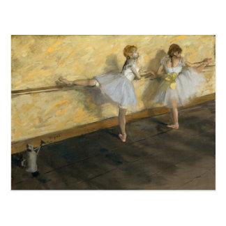 Dancers Practicing at the Bar, Edgar Degas Postcard