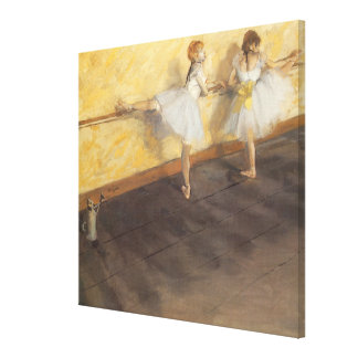 Dancers Practicing at the Barre by Edgar Degas Canvas Prints