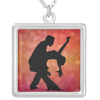 Dancers Silver Plated Necklace