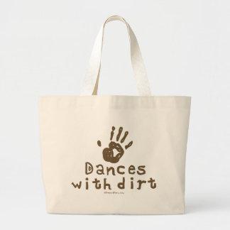 Dances with Dirt Large Tote Bag