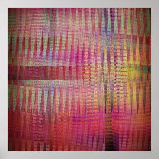 Dancing abstract crisscross patterns Poster
