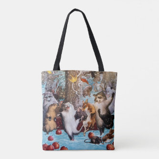 Dancing Animals Party in the Woods Tote Bag