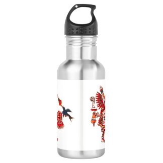 Dancing Aztec shaman warrior 532 Ml Water Bottle