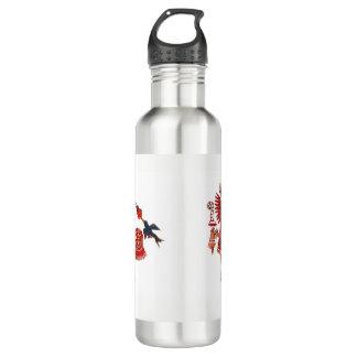 Dancing Aztec shaman warrior 710 Ml Water Bottle