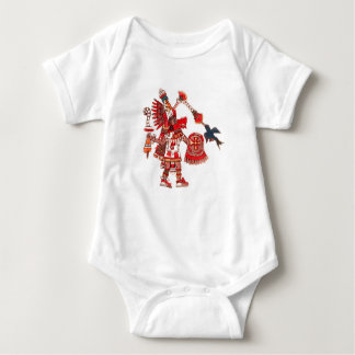 Dancing Aztec shaman warrior Baby Bodysuit