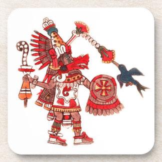 Dancing Aztec shaman warrior Beverage Coaster