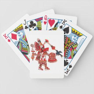 Dancing Aztec shaman warrior Bicycle Playing Cards