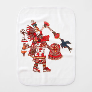 Dancing Aztec shaman warrior Burp Cloths