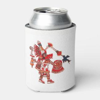 Dancing Aztec shaman warrior Can Cooler