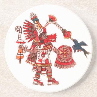 Dancing Aztec shaman warrior Coasters