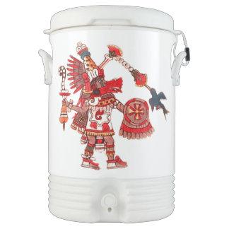 Dancing Aztec shaman warrior Drinks Cooler
