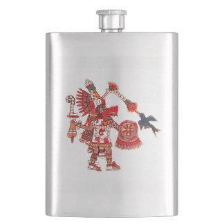 Dancing Aztec shaman warrior Flask