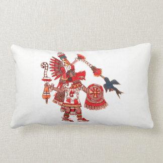 Dancing Aztec shaman warrior Lumbar Cushion